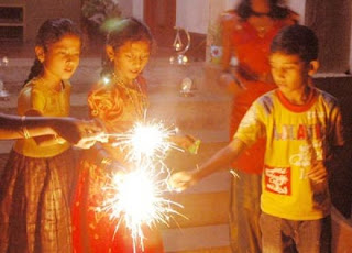 children diwali celebration cards