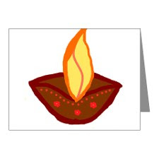 Diwali Diya Note Wishes