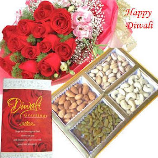 Diwali Wishes with Roses