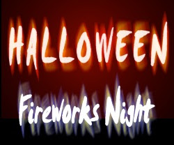 Halloween Fireworks Night Card