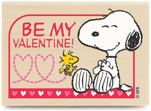snoopy be my valentine proposal card