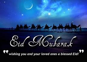 Blue Eid Cards