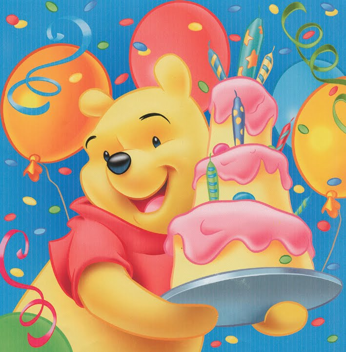Winnie The Pooh Birthday Cards
