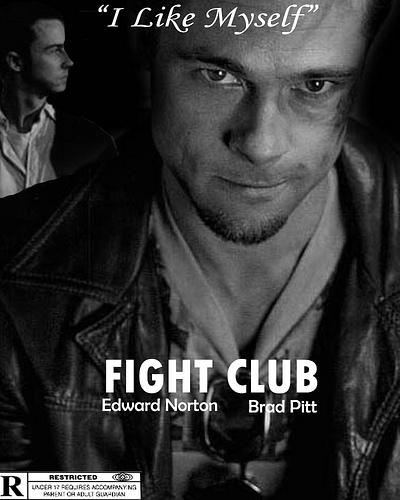 brad pitt fight club poster. Fight Club