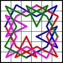 Drehsymmetrischer Rösselsprung