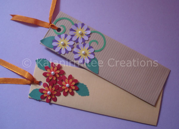 Bookmarks Punch Craft Flowers Kalanirmitee Creations