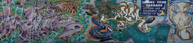 A graffiti wall at Bondi beach, Sydney.