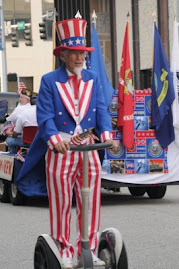 Uncle Sam on a Segway