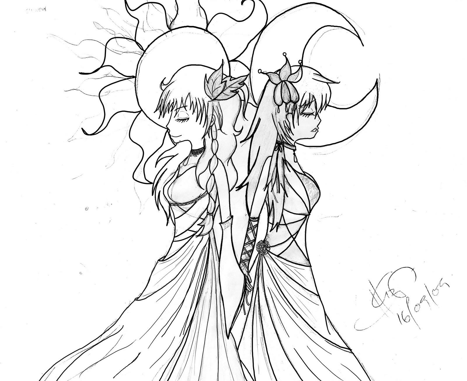 anime twins good and bad