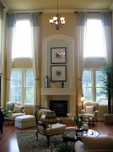 2 Story Family Room Window Treatments