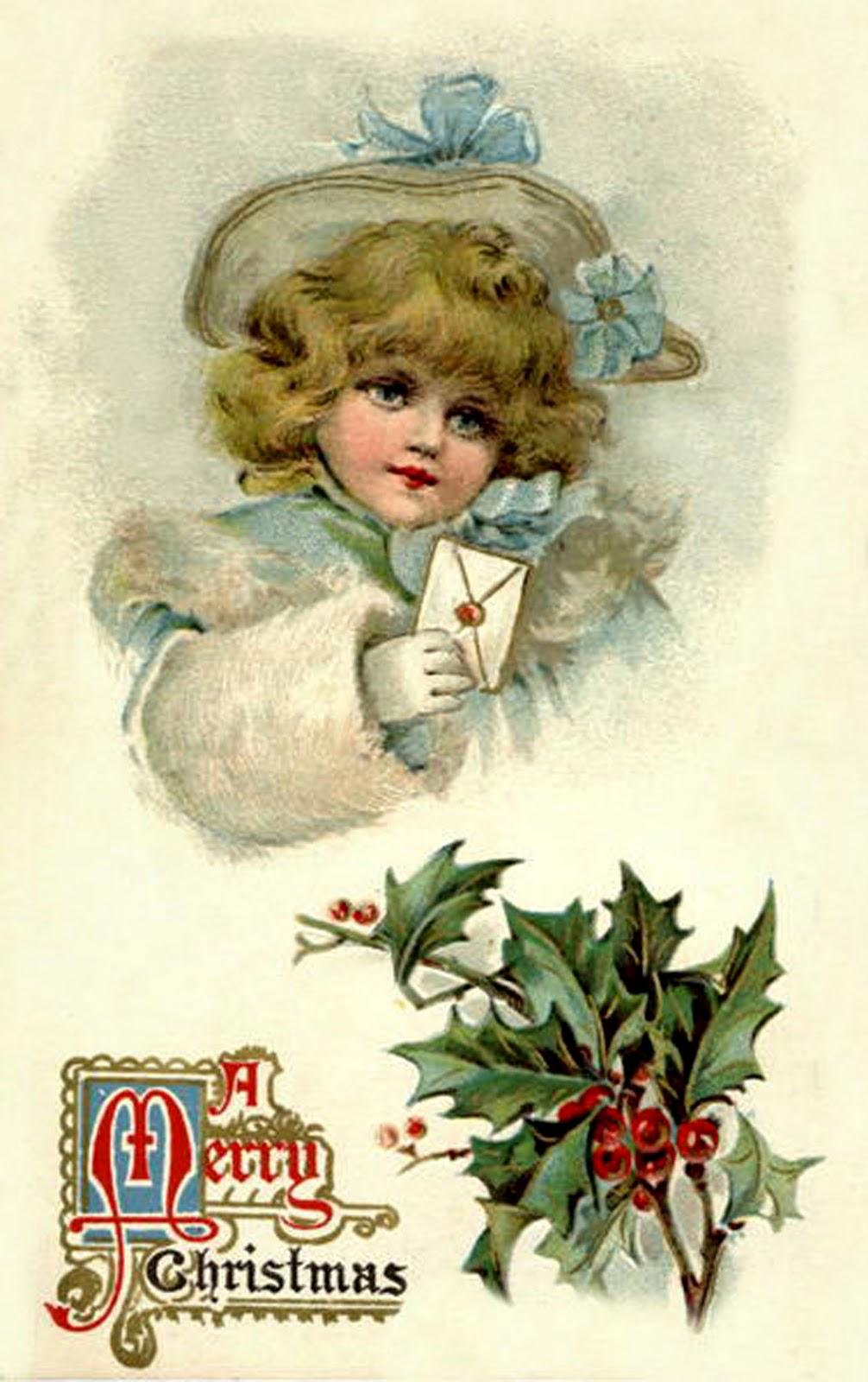 Старинные новогодние открытки винтаж с животными 79