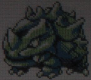Also kind of Muppety there, Rhyhorn. But I like the cake-armor idea better.