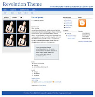 Revolution Theme Magazine Style Blogger Template