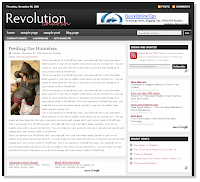 Revolution Church Magazine Style Blogger Template