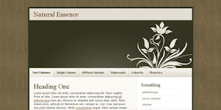 Blogger Templates : Natural Essence