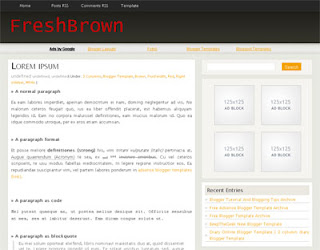 FreshBrown Blogger Template