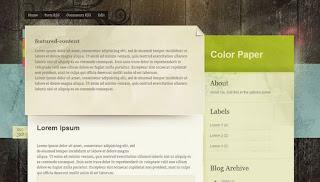 Blogger Templates : Color Paper | 2 Columns