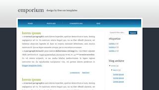 Blogger Templates : Emporium | 2 Columns
