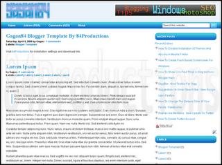 Blogger Templates : Gagan84 | 2 Columns