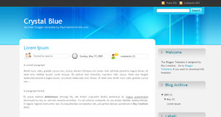 Blogger Templates : Crystal Blue