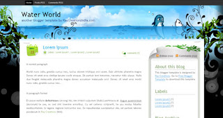 Water World Blogger Template | Elegant Theme