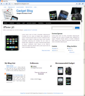 Gadget Blog Blogger Template