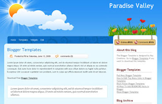 Paradise Valley Blogger Template