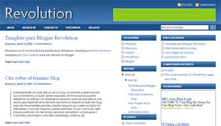 Template Blogger Revolution