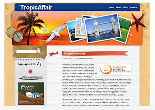 Troffic Affair Blogger Template