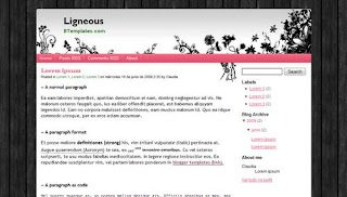 Ligneous Blogger Template