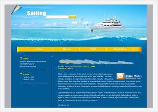 Sailing Blogger Template