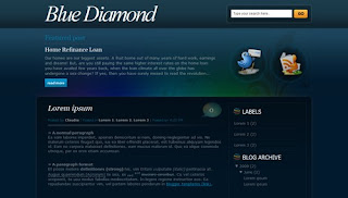Blue Diamond Blogger Template