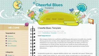 Cheerful Blues Blogger Template