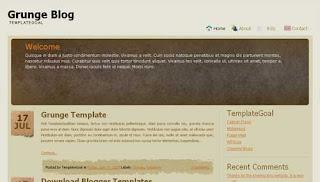 Grunge Blog Blogger Template