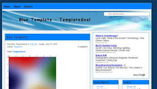 Blue Clean Blogger Template