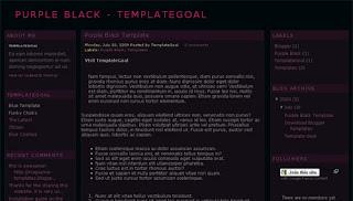 Purple Black Blogger Template