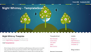 Night Whimsy Blogger Template