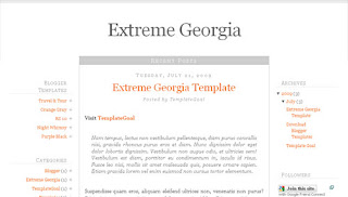 Extreme Georgia Blogger Template