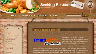 Blogger Template Seeking Restaurants