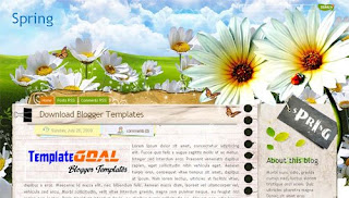Blogger Template Spring