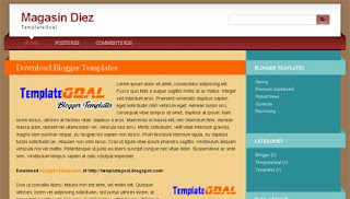 Blogger Template Magasin Diez