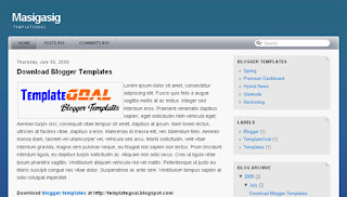 Masigasig excellent Blogger templates