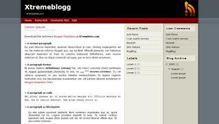 Xtremeblogg Blogger Template