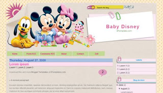 Baby Disney Blogger Template