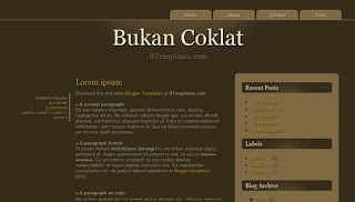 Bukan Coklat Blogger Template