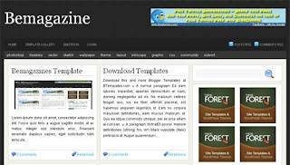 Bemagazine Blogger Template