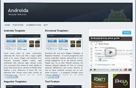 Androida Magazine Blogger Template