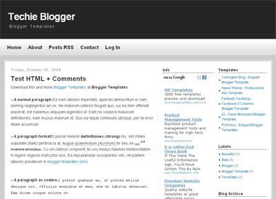 Techie Blogger - Tech Blogger Template