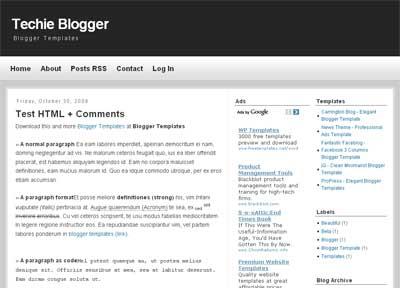 Techie Blogger - Tech Blogger Template