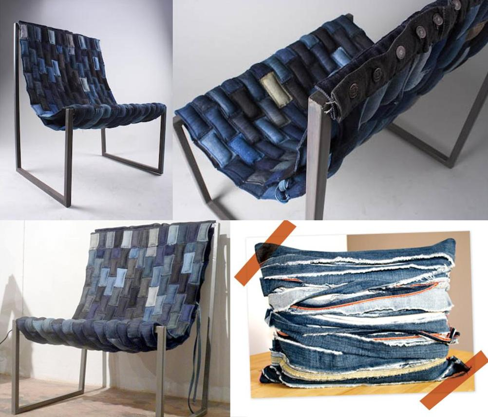 Superbe Meticulous Tailoring Transforms Rectangular Sections Of Denim Into An  Inviting Sling Chair From Scrap Lab. Frayed Strips From Old Jeans Come  Together In A ...